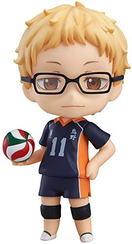 Image 1 for Haikyuu!! - Tsukishima Kei - Nendoroid #616 (Orange Rouge)