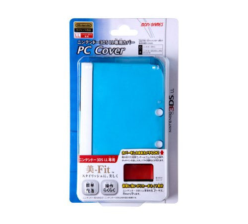 Image 1 for PC Cover for 3DS LL (Clear Blue)