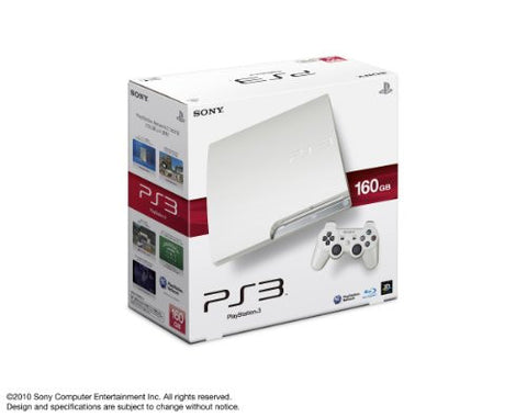 PlayStation3 Slim Console (HDD 160GB Classic White Model) - 110V
