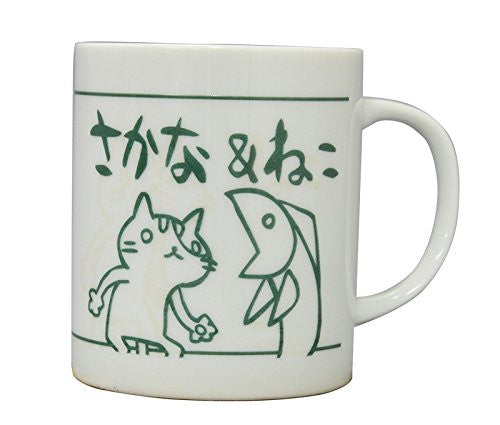 Image 1 for Sakana & Neko - Mug - Green (Algernon Product)
