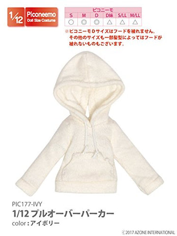 Doll Clothes - Picconeemo Costume - Pullover Parka - 1/12 - Ivory (Azone)