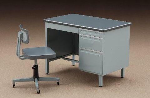 Image for 1/12 Posable Figure Accessory - FA03 - Office Desk and Chair - 1/12 (Hasegawa)