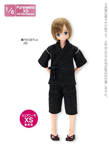 Doll Clothes - Pureneemo Original Costume - PureNeemo XS Size Costume - Jinbei Set - 1/6 - Black (Azone)