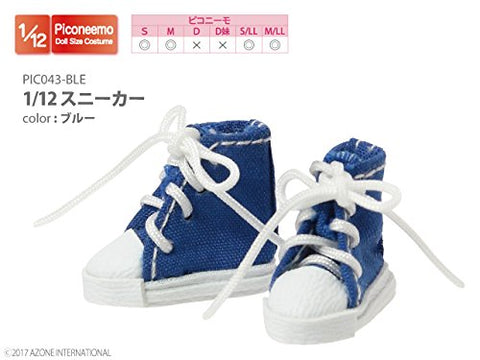 Doll Clothes - Picconeemo Costume - Sneakers - 1/12 - Blue (Azone)