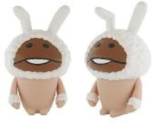 Image 2 for Osawari Tantei Nameko Saibai Kit - Shiro Usagi Nameko - Soft Vinyl Figure (Ensky)