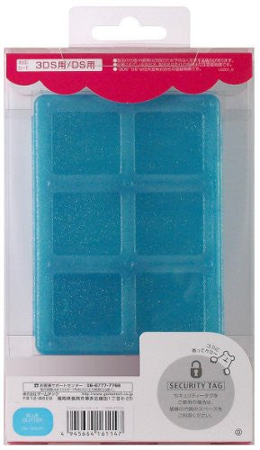 Image 2 for Jewel Card Case (Blue Glitter)