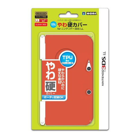 Image for TPU Yawakata Cover for 3DS LL (red)