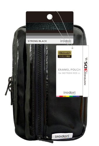 Image 2 for Enamel Pouch for 3DS LL (Strong Black)
