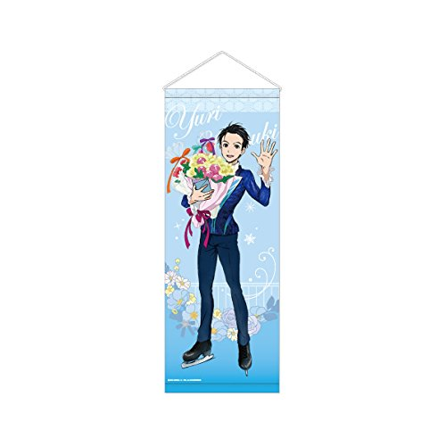 Image 1 for Yuri!!! on Ice - Katsuki Yuuri - Tapestry - ~with flowers~