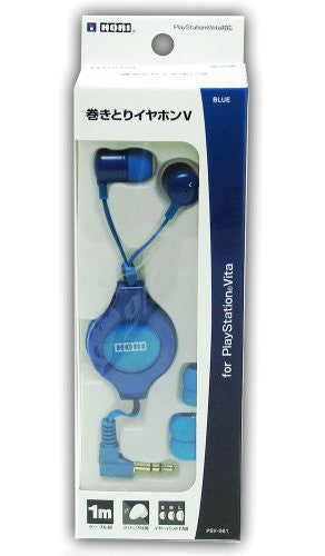 Image 1 for Hori Rewind Earphone V for PlayStation Vita (Blue)