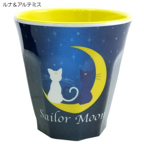 Image 1 for Bishoujo Senshi Sailor Moon - Artemis - Luna - Sailor Jupiter - Sailor Mars - Sailor Mercury - Sailor Moon - Sailor Venus - Melamine Cup - Luna & Artemis ML (Hasepro)