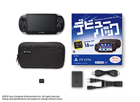 Image for Playstation Vita Debut Pack Crystal Black