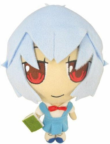 Image 1 for Shin Seiki Evangelion - Ayanami Rei - Petit Eva Plush Doll Set A with Cat Mermaid (Movic)