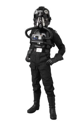 "Image 1 for Star Wars - TIE Fighter Pilot - Real Action Heroes #631 - 1/6 - Black 3 ""Backstabber"" (Medicom Toy)"
