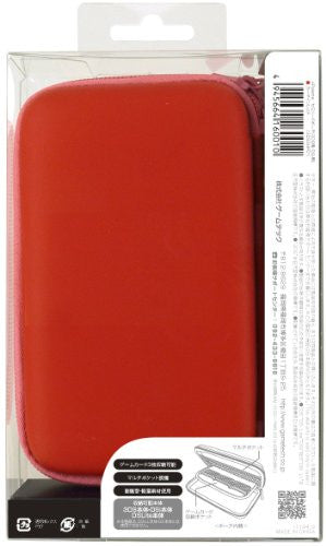 Image 2 for Palette Semi Hard Pouch for 3DS (Carmine Red)