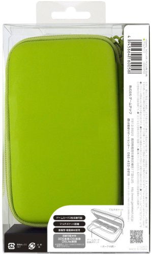 Image 2 for Palette Semi Hard Pouch for 3DS (Lime Green)