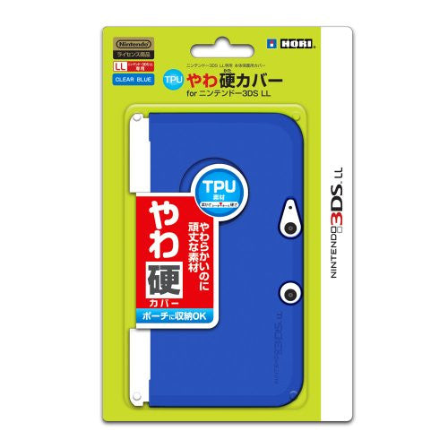 Image 1 for TPU Yawakata Cover for 3DS LL (Clear Blue)