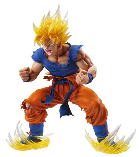 Image 1 for Dragon Ball Kai - Son Goku SSJ - Super Figure Art Collection - 1/8 - Ver. 2 Clear Hair Ver. (Medicos Entertainment)