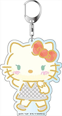 Yuri!!! on Ice x Sanrio Characters - Deka Key Chain - Stamp Rally Ver. - Hello Kitty