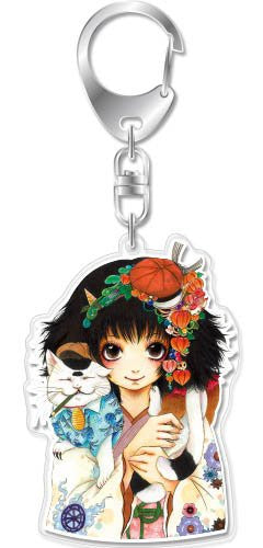 Image 1 for Hoozuki no Reitetsu - Peach Maki - Koban - Hoozuki no Reitetsu Acrylic Keychain Tankobon Cover Collection - Keyholder (empty)