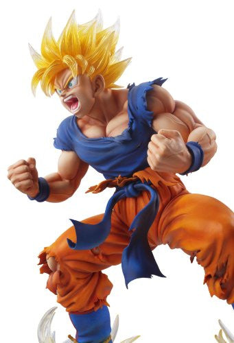 Image 3 for Dragon Ball Kai - Son Goku SSJ - Super Figure Art Collection - 1/8 - Ver. 2 Clear Hair Ver. (Medicos Entertainment)