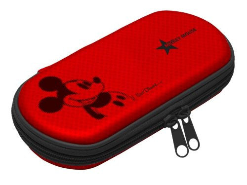 Disney Character Hard Pouch Portable (Mickey Red)