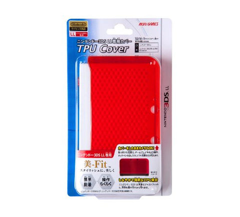 TPU Cover for 3DS LL (Clear Red)