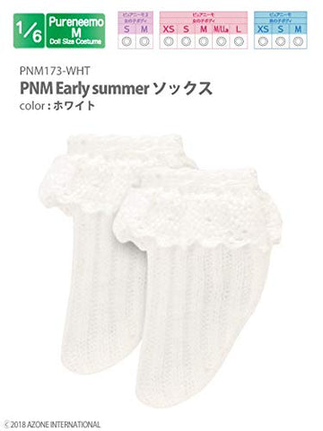 Doll Clothes - PureNeemo M Size Costume - Early Summer Socks - 1/6 - White (Azone)