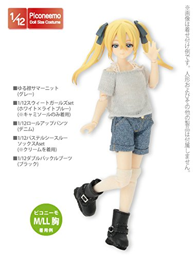 Doll Clothes - Picconeemo Costume - Loose Collar Summer Knit - 1/12 - Gray (Azone)