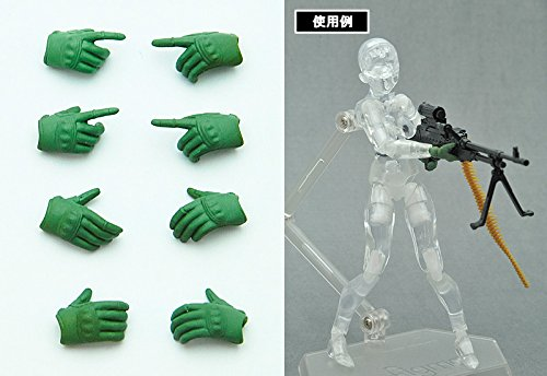 Image 2 for Figma - Little Armory #OP02 - Tactical Glove - 1/12 - Foliage Green (Tomytec)