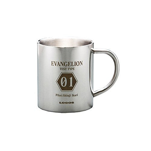 Image 1 for Evangelion Shin Gekijouban - Ikari Shinji - Mug - Eva x Logos (Eichi Co., Ltd)
