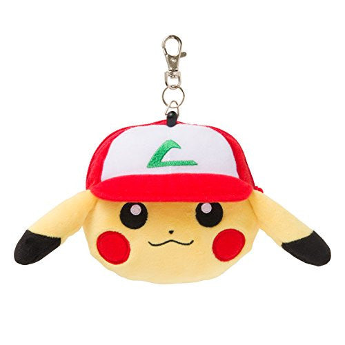 Image 1 for Pocket Monsters - Pokemon Center Original - Pikachu wearing a hat - Plush Pass Case