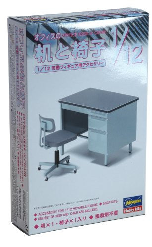 Image 2 for 1/12 Posable Figure Accessory - FA03 - Office Desk and Chair - 1/12 (Hasegawa)