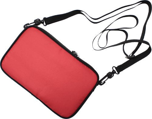 Image 3 for Odekake Shoulder Pouch for 3DS LL (Red)