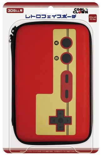 Image 1 for Retro Face Pouch for 3DS LL (Famicom Red)