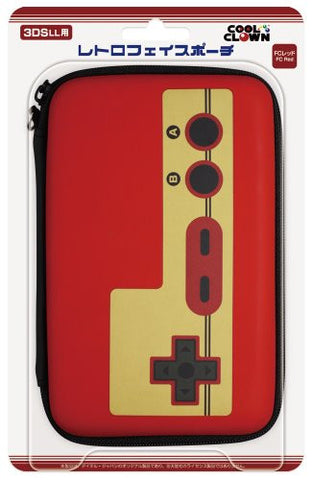 Image for Retro Face Pouch for 3DS LL (Famicom Red)
