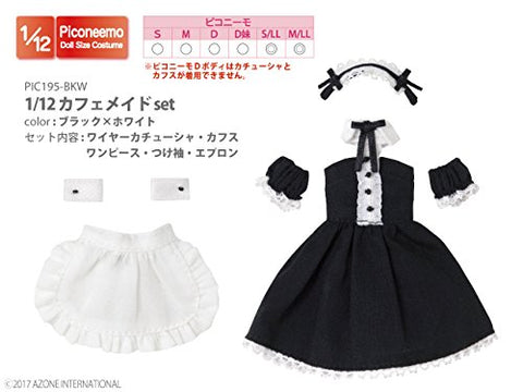 Doll Clothes - Picconeemo Costume - Cafe Maid Set - 1/12 - Black x White (Azone)