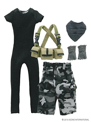 Doll Clothes - Picconeemo Costume - Military Battle Dress Set II - 1/12 - City Color Set (Azone)