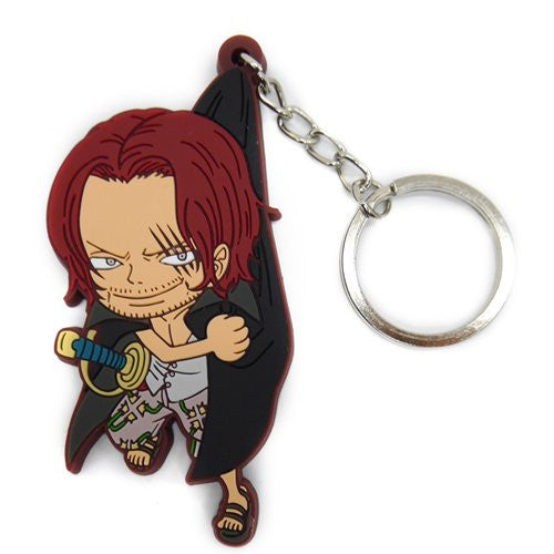 Image 1 for One Piece - Red-Haired Shanks - Keyholder - Rubber Strap - Tsumamare (Cospa)
