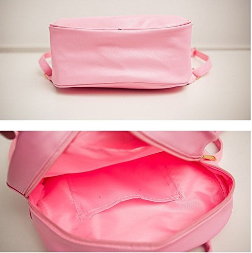 Image 3 for Ita Bag - Clear Heart Backpack - Akssweet - Pink