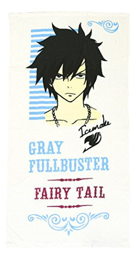 Image 1 for Fairy Tail - Gray Fullbuster - Pile Bath Towel B - Towel (Fragment)