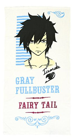 Image for Fairy Tail - Gray Fullbuster - Pile Bath Towel B - Towel (Fragment)