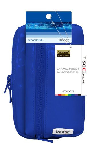 Image 2 for Enamel Pouch for 3DS LL (Ocean Blue)
