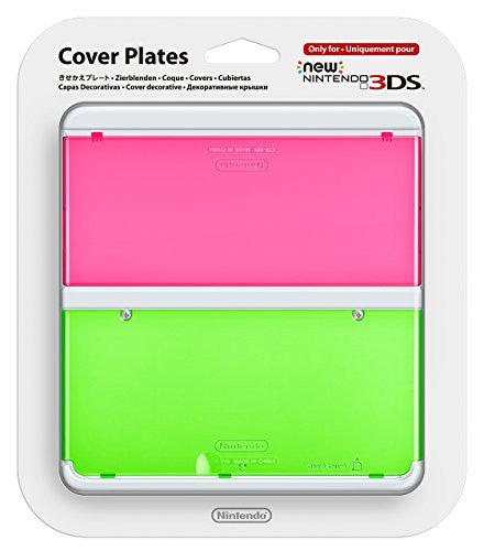 Image 1 for New Nintendo 3DS Cover Plates No.022 (Clear Pink & Green)