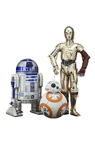 Image 1 for Star Wars: The Force Awakens: R2-D2 & C-3PO with BB-8 1/10 (ARTFX+)