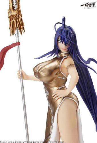 Image 3 for Ikki Tousen Xtreme Xecutor - Kan'u Unchou - 1/4.5 - Chinese Dress Gold Ver. (A+)