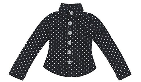 Doll Clothes - Pureneemo Original Costume - PureNeemo XS Size Costume - Dot Pattern Shirt - 1/6 - Navy (Azone)
