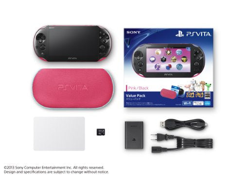 Image 2 for PlayStation Vita Value Pack Pink Black (PCH-2000)