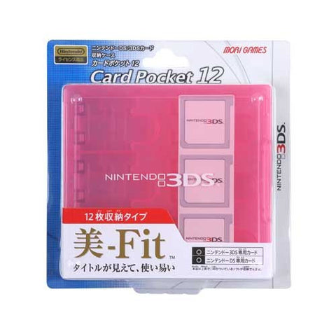 Image for 3DS Card Pocket 12 (Clear Pink)