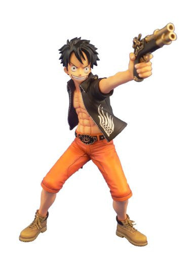 Image 1 for One Piece - Monkey D. Luffy - Door Painting Collection Figure - 1/7 - The Three Musketeers Ver. (Plex)